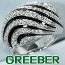 ダイヤ ダイヤモンド 0.85ct オニキス リング 指輪 K18WG【中古】GENJ