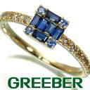 ベルシオラ リング 指輪 サファイア ダイヤ ダイヤモンド 0.18ct 11号 K18YG【中古】BLJ/GENJ