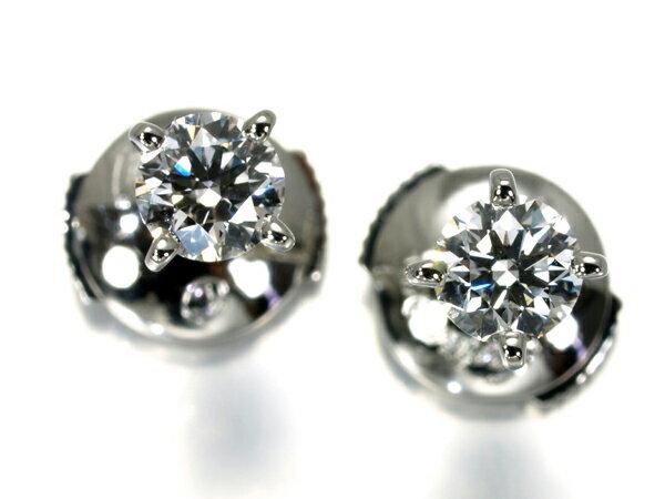 カルティエ ピアス ダイヤ ダイヤモンド 0.25ct/0.30ct E/F IF/VS1 Pt950/プラチナ 鑑定書【中古】BLJ