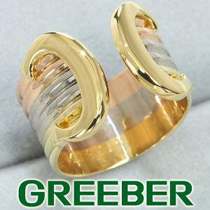 カルティエ リング 指輪 2C ドゥーブルC C2 スリーカラー 48号 K18YG/WG/PG【中古】BLJ