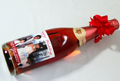 クリスマスに写真、名入れラベルのスパークリングワイン750ml(内祝い、誕生日、結婚祝い、結婚記念日、引き出物に)【楽ギフ_包装選択】【楽ギフ_のし宛書】【楽ギフ_メッセ】【楽ギフ_名入れ】