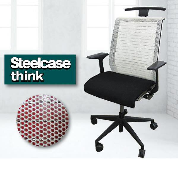 【中古】【ハンガー無】 steelcase スチールケース オフィスチェア メッシュ THK-13201Think j2015