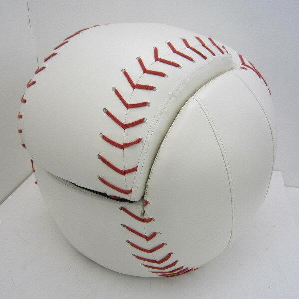 【アウトレット品】 野球ボール柄 キッズ ソファ オットマン付 一人掛け 子供用 ローソファ t2432
