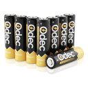 【アウトレット品】 Odec Ni-MH Deepサイクルバッテリーパック 8本セット 充電池 単三形 AA 2450mAh j2599