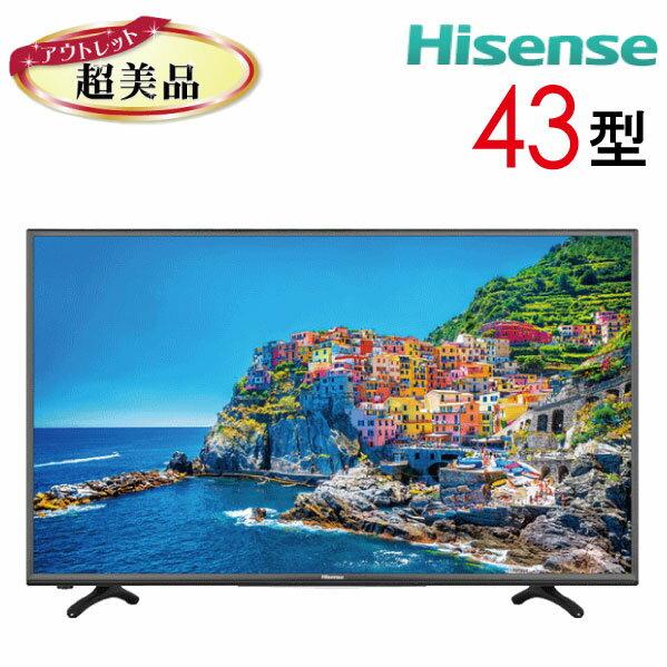 【中古】 Hisense ハイセンス 液晶テレビ フルハイビジョン 43型 43インチ LED 大型 新古 HJ43K3120 tv-267