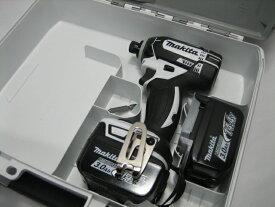 【特別セット】マキタ充電インパクトドライバ TD138DZW(白)14.4V 本体・バッテリー2個・ケースセット