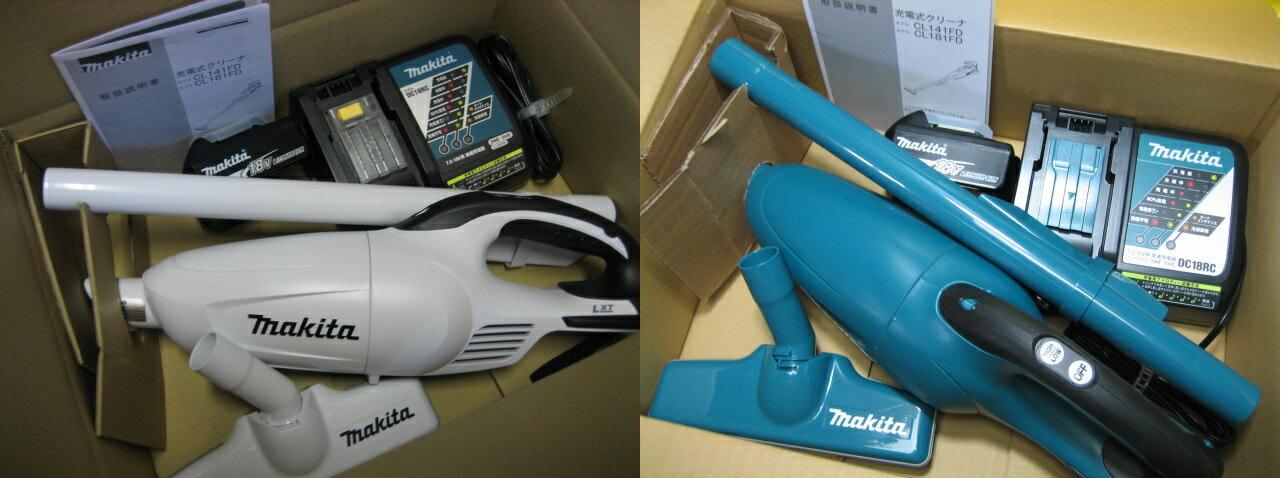 新製品!マキタ掃除機 充電式クリーナー カプセル式 CL181FDRFWO 18V(3.0Ah) 当店オリジナルセット (青/白)本体のみ (CL181FDZW)+充電器(DC18RC)+バッテリー(BL1830B) 1年保証付