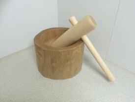 餅つき セット ミニ臼 道具 臼 木製臼杵セット5合用(北海道の天然木使用)もちつき キネ もち臼 子ども用