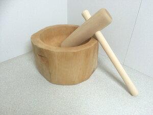 木製臼キネセット 1.5升用 餅つきセット 家庭用(北海道の天然木使用)ミニ臼