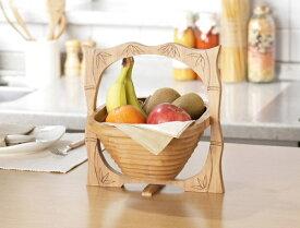 果物入れ かご フルーツトレ− 合竹製 バンブー素材 小物入れ バスケット カゴ 収納家具
