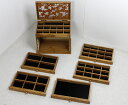 ジュエリーボックス ジュエリーケース 木製 大容量 6段タイプ アクセサリー 収納ケース【送料無料】