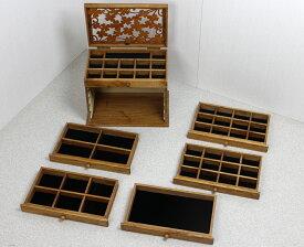 ジュエリーボックス ジュエリーケース 木製 大容量 6段タイプ アクセサリー 収納ケース【送料無料】 アクセサリー 収納