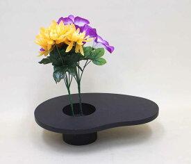 木製花器・造花台・フラワースタンド 剣山使用タイプ丸型