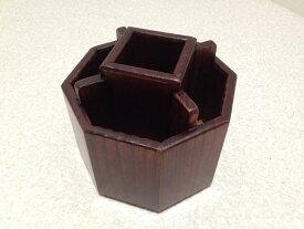 ペン立て リモコンラック 卓上 木製 便利な回転式 小物入れ リモコン 収納