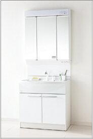 ★パナソニック エムライン GQM75KSCW + GQM75K3SMK 3面鏡 幅750mm 洗面 化粧台 シングルレバーシャワー ドレッシング MLine ★
