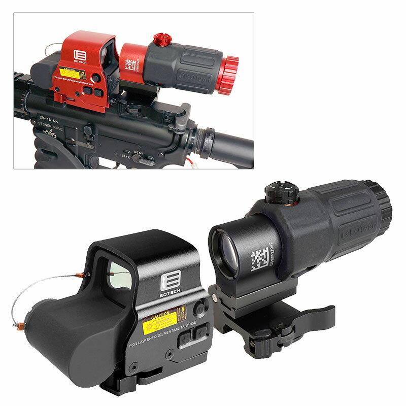 ANS optical XPS3タイプ ドットサイト & G33-STSタイプ 3倍ブースター セット BK ブラック RED 赤 マグニファイア QDレバー 20mmレイル対応 近距離 遠距離 サバゲー サバイバルゲーム