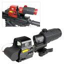 ANS Optical XPS3タイプ ドットサイト & G33-STSタイプ 3倍ブースター セット BK ブラック RED 赤 マグニファイア QD…