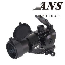 ANS Optical AIM COMP M3タイプ ドットサイト ダットサイト オフセットハイマウント付 レッド グリーン 赤 緑 ナイツ サバイバルゲーム サバゲー 装備 エアガン スコープ