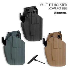 サファリランドタイプ マルチフィットホルスター コンパクトサイズ BK TAN GY 3色 サバイバルゲーム サバゲー 装備