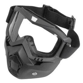 SHENKEL フルフェイスマスク ゴーグル フェイスガード サバゲー マスク フルフェイス 曇らない 眼鏡併用 ネメシス ジェッペル ジェットヘルメット バイク スノボ 装備 メンズ レディース サバイバルゲーム