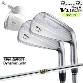 RomaRo/Ray V-V1-IRON/#5〜PW(6本セット)/ロマロ/アイアン/Dynamic_Gold/ダイナミックゴールド/TRUE_TEMPER/カスタムクラブ/代引NG