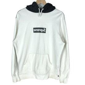 【中古】Supreme シュプリーム COMME des GARCONS SHIRT Box Logo Hooded Sweatshirt /Pullover ミラーボックスロゴ パーカー M ギャルソン 14SS メンズ レディース