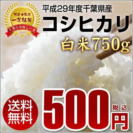 【送料無料】平成29年度千葉県産新米コシヒカリ白米750g◆メール便でのお届けとなります。※同梱・着日指定不可商品