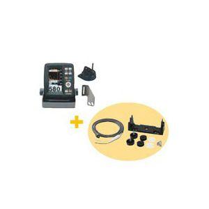 ホンデックス(HONDEX) 魚群探知機 PS-500C 〈4.3型ワイドカラー ポータブル魚探〉 電源コード・架台セット