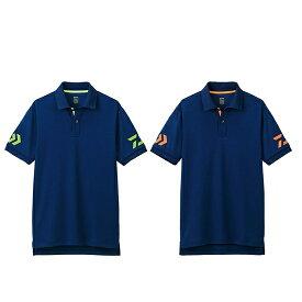 ダイワ(DAIWA) DE-7906 半袖ポロシャツ NV×Sスプリング,ネイビー×Cトマト