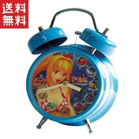 海物語 サウンド目覚し時計 蓄光仕様 大当たり音搭載 ブルー マリンちゃん / パチンコ キャラクター グッズ