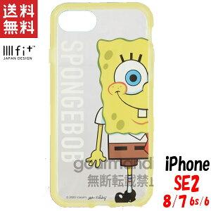 スポンジボブ iPhoneSE2/8/7/6s/6 ケース イーフィット クリア IIIIfit Clear キャラクター グッズ アップ SB-75A ※9月上旬頃入荷予定