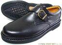 Rinescante Valentiano 本革 モンクストラップ ビジネスシューズ 黒 ワイズ4E(EEEE)【メンズ・革靴・紳士靴・小さいサイズ(スモール…