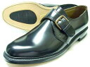 British Classic 本革底 モンクストラップ ビジネスシューズ 黒 3E(EEE)/メンズ・革靴・紳士靴