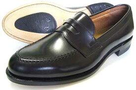 British Classic 本革底 ローファー スリッポン ビジネスシューズ 黒 3E(EEE)/メンズ・革靴・紳士靴