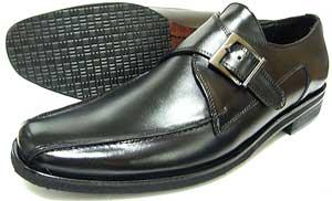 人間讃歌 KANSAI YAMAMOTO 本革 モンクストラップ ビジネスシューズ 黒 3E(EEE)〜4E(EEEE)27.5cm、28cm(28.0cm)、28.5cm、29cm(29.0cm)、29.5cm、30cm(30.0cm)/大きいサイズ・メンズ・革靴・紳士靴