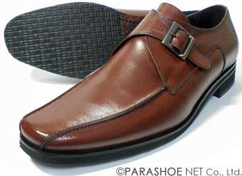 Christian Carano(クリスチャン カラノ)本革 モンクストラップ ビジネスシューズ 茶色 ワイズ3E(EEE)〜4E(EEEE) 27.5cm、28cm(28.0cm)、28.5cm、29cm(29.0cm)、29.5cm、30cm(30.0cm)/大きいサイズ(ビッグサイズ)革靴・紳士靴