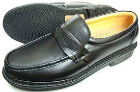Rinescante Valentiano 本革 ローファー ビジネスシューズ 黒 4E(EEEE) 27.5cm、28cm(28.0cm)、29cm(29.0cm)、30cm(30.0cm)/大きいサイズ・メンズ・革靴・紳士靴