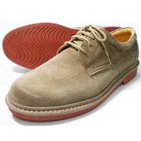 Rinescante Valentiano 本革スウェード プレーントウ ビジネスシューズ ダークベージュ(レンガソール)ワイズ 4E(EEEE)27.5cm、28cm(28.0cm)[大きいサイズ(ビッグサイズ)革靴・紳士靴]