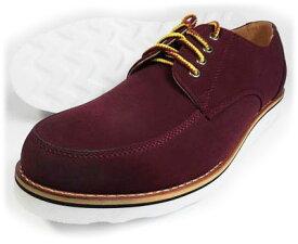 Tumeric Uチップ カジュアルシューズ ワイン(赤茶色)ワイズ3E(EEE) 28cm(28.0cm)、29cm(29.0cm)、30cm(30.0cm)【大きいサイズ(ビッグサイズ/キングサイズ)メンズ紳士靴】