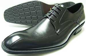 SEVENTH STREET ロングノーズ スワールモカ ビジネスシューズ 黒 3E(EEE) 27.5cm、28cm(28.0cm)、28.5cm、29cm(29.0cm)、30cm(30.0cm)[大きいサイズ・メンズ・革靴・紳士靴]
