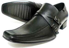 LASSU&FRISS ストラップスリッポン ビジネスシューズ 黒 3E(EEE) 27.5cm、28cm(28.0cm)、29cm(29.0cm)、30cm(30.0cm)[大きいサイズ・メンズ・革靴・紳士靴]