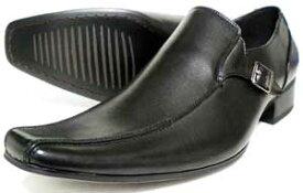 LASSU&FRISS ヴァンプ スリッポン ビジネスシューズ 黒 3E(EEE) 27.5cm、28cm(28.0cm)、29cm(29.0cm)、30cm(30.0cm)[大きいサイズ・メンズ・革靴・紳士靴]