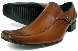LASSU&FRISS ヴァンプ スリッポン ビジネスシューズ アンティーク濃茶 3E(EEE) 27.5cm、28cm(28.0cm)、29cm(29.0cm)、30cm(30.0cm)[大きいサイズ・メンズ・革靴・紳士靴]