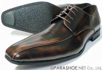 S-MAKE(エスメイク)スワールモカ ビジネスシューズ アンティーク濃茶(ダークブラウン)ワイズ3E(EEE)23cm(23.0cm)、23.5cm、24cm(24.0cm)[小さいサイズ(スモールサイズ)紳士靴]