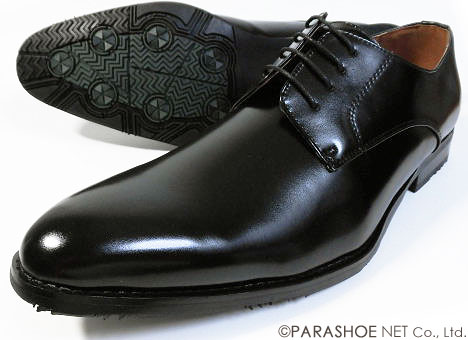 S-MAKE(エスメイク)プレーントゥ ビジネスシューズ 防滑ソール 黒 ワイズ3E(EEE)23cm(23.0cm)、23.5cm、24cm(24.0cm)[小さいサイズ(スモールサイズ)紳士靴]