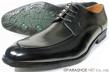 S-MAKE(エスメイク)Uチップ ビジネスシューズ 防滑ソール 黒 ワイズ3E(EEE)23cm(23.0cm)、23.5cm、24cm(24.0cm)[小さいサイズ(スモールサイズ)紳士靴]