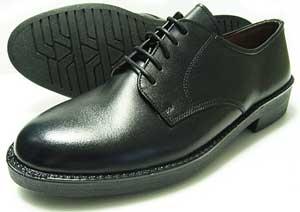 Mr.Cornell 本革 プレーントゥ ビジネスシューズ 黒 22cm(22.0cm)、22.5cm、23cm(23.0cm)、23.5cm、24cm(24.0cm)/小さいサイズ・メンズ・革靴・紳士靴