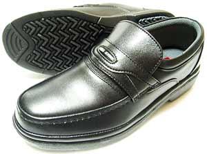 After Golf(アフターゴルフ)本革 モカスリッポン ビジネスシューズ 黒(ブラック) ワイズ4E(EEEE) 23cm(23.0cm)、23.5cm、24cm(24.0cm)[小さいサイズ(スモールサイズ)メンズ革靴・紳士靴]