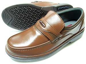 After Golf(アフターゴルフ)本革 モカスリッポン ビジネスシューズ オリーブ(茶色)ワイズ4E(EEEE) 23cm(23.0cm)、23.5cm、24cm(24.0cm)[小さいサイズ(スモールサイズ)メンズ革靴・紳士靴]
