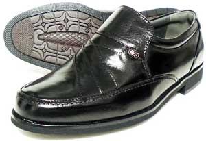 MG(Men's Gear)カンガルー革 シャーリングスリッポン ビジネスシューズ 黒 23cm(23.0cm)、23.5cm、24cm(24.0cm)/小さいサイズ・メンズ・革靴・紳士靴
